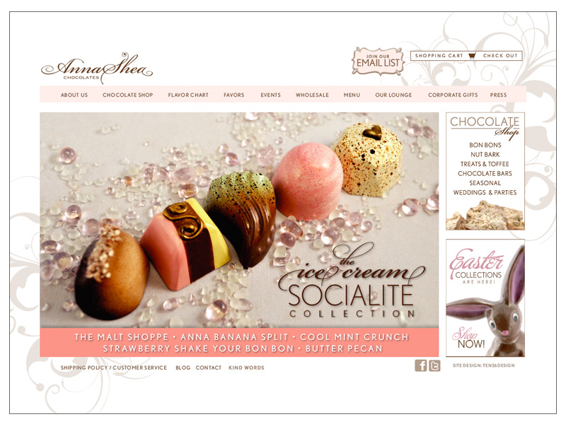 Anna Shea Chocolates Website