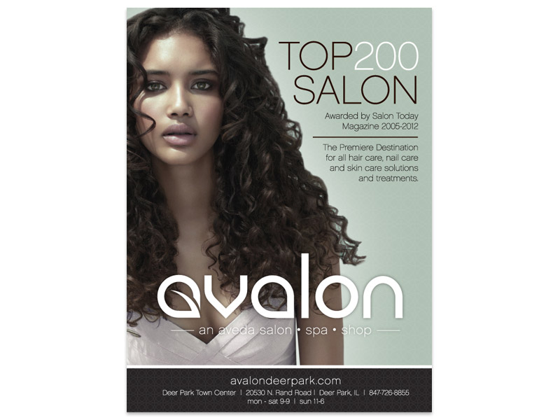 Avalon Salon Print Ad