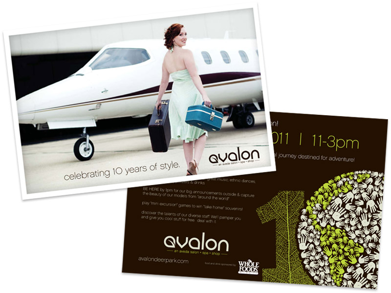 Avalon Salon Postcard