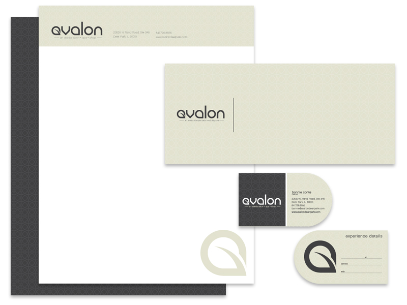 Avalon Salon Stationary
